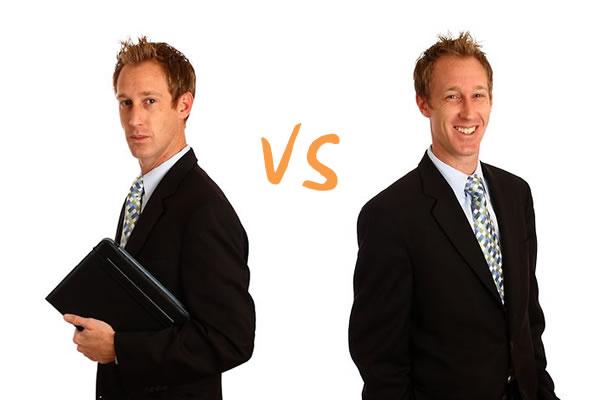 Actitud exitosa vs no exitosa