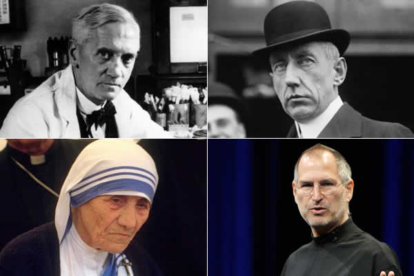 Fleming, Amundsen, Madre Teresa, Steve Jobs