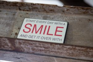 Metal Words Sign Smile Saying Motivation